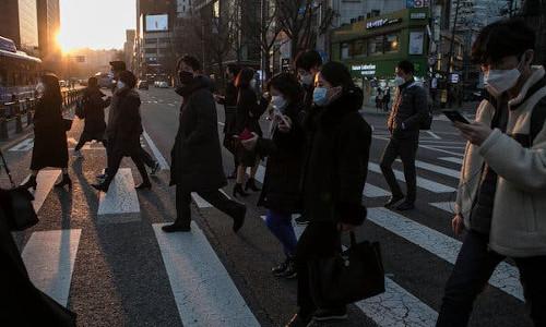The streets of Seoul, Korea.